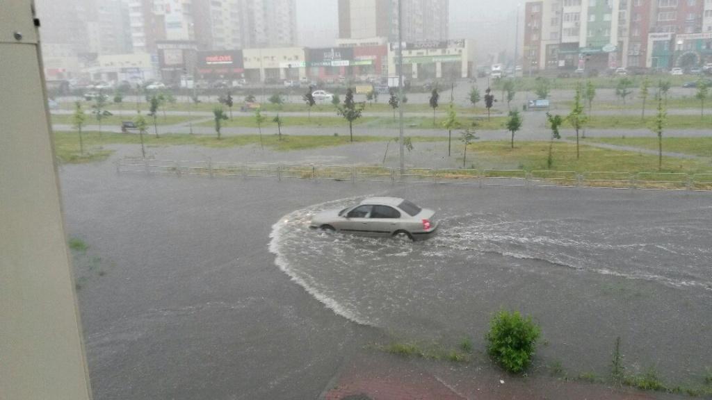 ливень в Челябинске